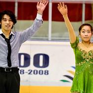 Takahito Mura and Rin Nitaya during the gala at the Coupe du Printempts 2016.