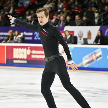 Alexander Samarin during his free skating at the Russian National Championships 2020.  Александр Самарин в произвольной программе на Чемпионате России 2020.