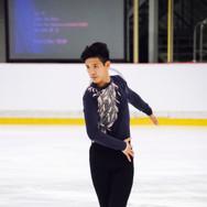 Eric Liu performing his free program at the ISU Junior Grand Prix Riga 2019.