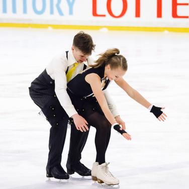 Angelina Kudriavtseva / Ilia Karankevich performing their free dance at the ISU Junior Grand Prix Riga Cup 2019.