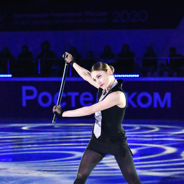 Alena Kostornaia during the gala exhibition at the Russian National Championships 2020.  Алёна Косторная в показательных выступлениях на Чемпионате России 2020.