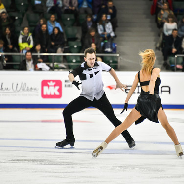 Olga Bibikhina / Daniil Zvorykin during their free dance at the Russian National Championships 2020.  Ольга Бибихина / Даниил Зворыкин в произвольном танце на Чемпионате России 2020.