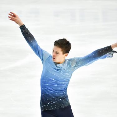 Valtter Virtanen performing his short program at the 2020 Bavarian Open.