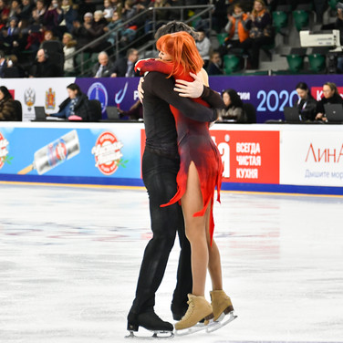 Tiffany Zahorski / Jonathan Guerreiro during their free dance at the Russian National Championships 2020.  Тиффани Загорски / Джонатан Гурейро в произвольном танце на Чемпионате России 2020.