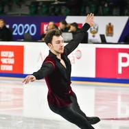 Dmitri Aliev during the short program at the Russian National Championships 2020.  Дмитрий Алиев в короткой программе на Чемпионате России 2020.