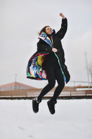 Model: Ksenia from Russia  Place: Khodynskoye Polye Park, Moscow  January 2021