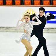 Emily Monaghan & Ilias Fourati performing their rhythm dance at the 2020 Bavarian Open.