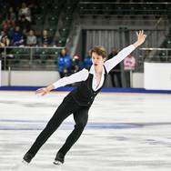Andrei Lazukin during the short program at the Russian National Championships 2020.  Андрей Лазукин в короткой программе на Чемпионате России 2020.