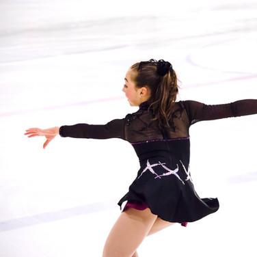Kaiya Ruiter performing her free program at the ISU Junior Grand Prix Riga 2019.