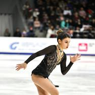 Sofia Samodurova during the free skating at the Russian National Championships 2020.   Софья Самодурова во время произвольной программы на Чемпионате России 2020.