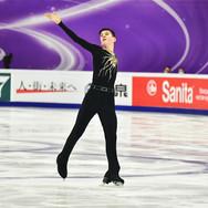 "Artem Kovalev performing his short program at the ISU Grand Prix Rostelecom Cup 2020.  Артем Ковалев в короткой программе на ИСУ Гран-при ""Кубок Ростелеком"" 2020."