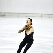 Satoko Miyahara performing her short program at the 2020 Bavarian Open.