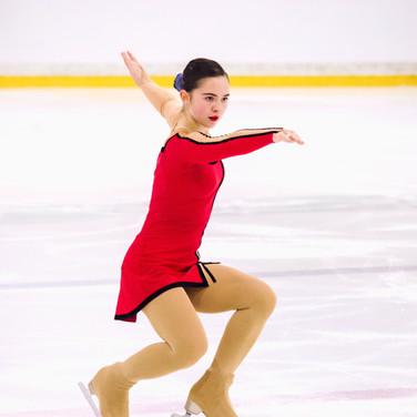 Arina Somova performing her free program at the ISU Junior Grand Prix Riga 2019.