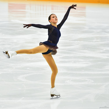 Anna Shcherbakova performing her free skate at the Russian Test Skates 2020.  Анна Щербакова в произвольной программе на открытых прокатах 2020.