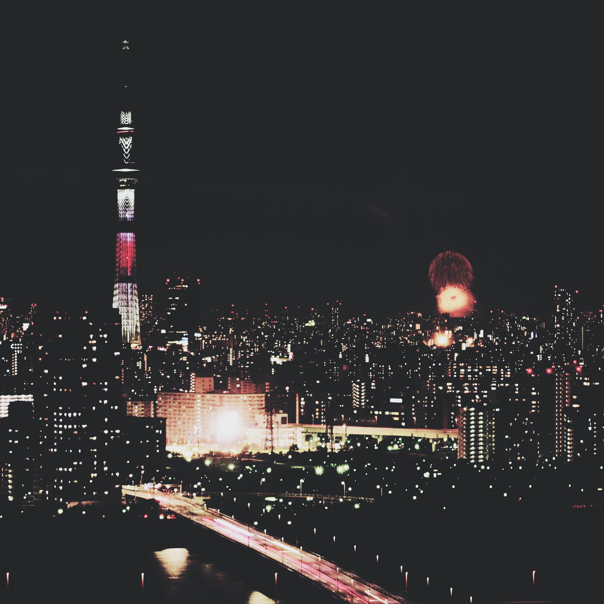 Night view on Tokyo Skytree.