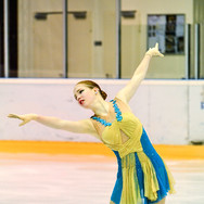 Lyubov Efimenko during the free skating at the Coupe du Printempts 2016.