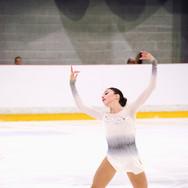 Anastasiia Arkhipova performing her free program at the ISU Junior Grand Prix Riga 2019.