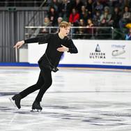 Egor Murashov during his free skating at the Russian National Championships 2020.  Егор Мурашов в произвольной программе на Чемпионате России 2020.