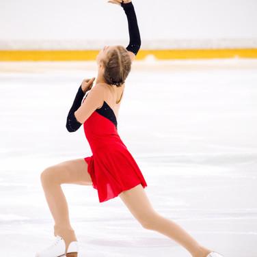 Olga Mikutina performing her free program at the ISU Junior Grand Prix Riga 2019.