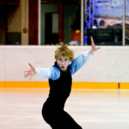 Bruce Waddell during the free skating at the Coupe du Printempts 2016.