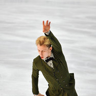Nikolaj Majorov performing his free program at the 2020 Bavarian Open.