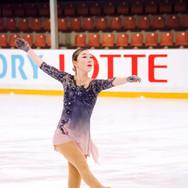 Alana Toktarova during her Short Program at the ISU Junior Grand Prix Riga Cup 2019.