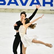 Avonley Nguyen and Vadym Kolesnik performing their free dance at the 2020 Bavarian Open.