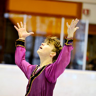 Vincent Cuerel during the free skating at the Coupe du Printempts 2016.