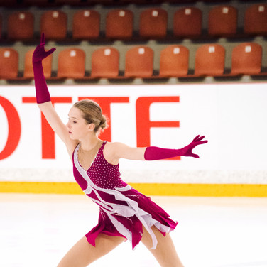 Anete Lace performing her free program at the ISU Junior Grand Prix Riga 2019.