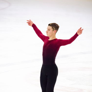 Andrew Torgashev during the free  skating practice at the ISU Junior Grand Prix Riga Cup 2019.