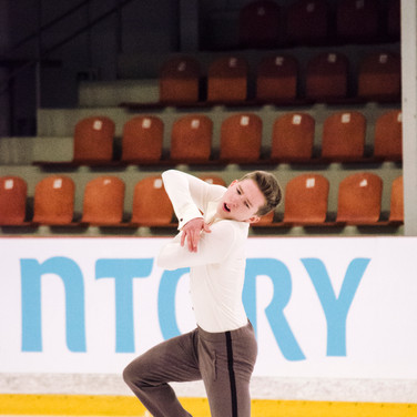 Andrei Mozalev performing his short program at the ISU Junior Grand Prix Riga Cup 2019.