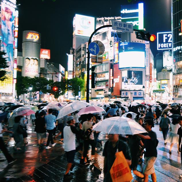 Night Shibuya.