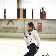 Marin Honda during the free skating practice at the 2020 Bavarian Open.