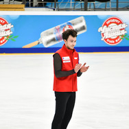 Dmitri Aliev during the free skating practice at Russian National Championships 2020.  Дмитрий Алиев на тренировке произвольной программы на Чемпионате России 2020.