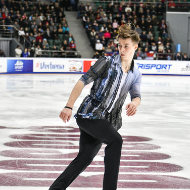 Vladimir Samoilov during his free skating at the Russian National Championships 2020.  Владимир Самойлов в произвольной программе на Чемпионате России 2020.