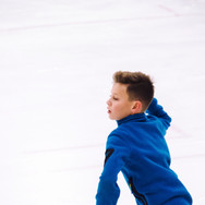 Lev Vinokur during the free  skating practice at the ISU Junior Grand Prix Riga Cup 2019.