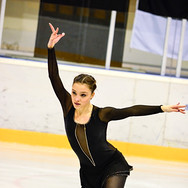 Giada Russo during the free skating at the Coupe du Printempts 2016.