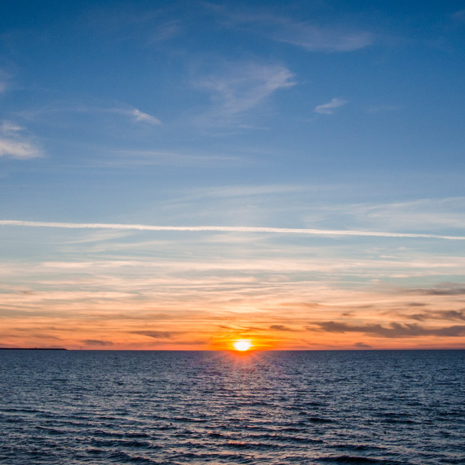 Sunset at the Baltic Sea, Zelenogradsk