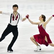 Robynne Tweedale / Joseph Buckland performing their rhythm dance at the 2020 Bavarian Open.
