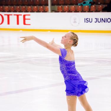Niina Petrokina performing her free program at the ISU Junior Grand Prix Riga 2019.