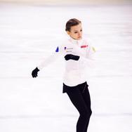 Daria Usacheva during the practice at the ISU Junior Grand Prix Riga Cup 2019.