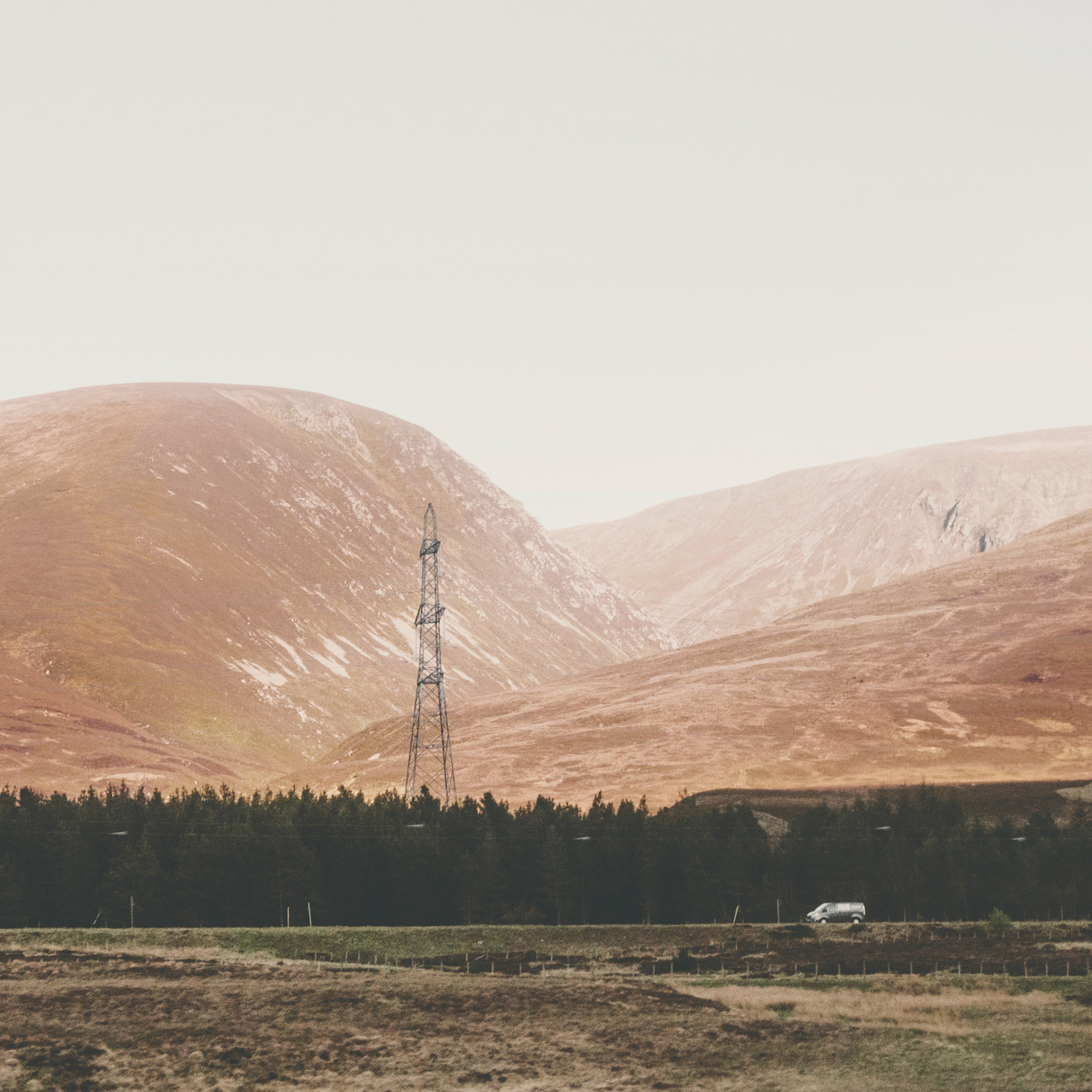 The view from the train (Edinburgh - Inverness) on Scottish Highlands.