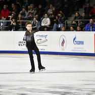 Daniil Samsonov during his free skating at the Russian National Championships 2020.  Даниил Самсонов в произвольной программе на Чемпионате России 2020.