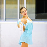 Inga Januleviciute during the free skating at the Coupe du Printempts 2016.