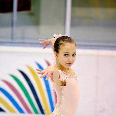 Natalie D'alessandro during the free skating at the Coupe du Printempts 2016.