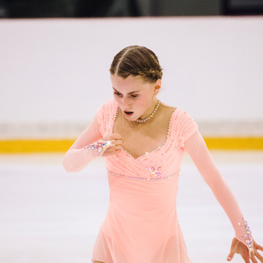 Oceane Piegad performing her free program at the ISU Junior Grand Prix Riga 2019.