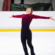 Andrew Torgashev performing his free program at the ISU Junior Grand Prix Riga 2019.