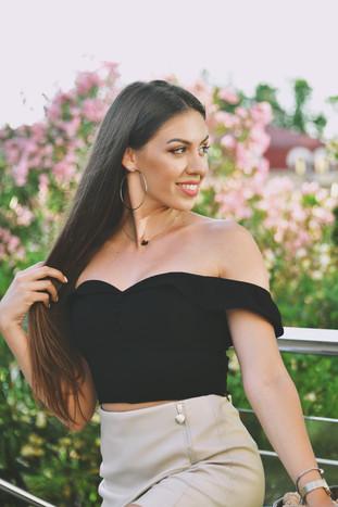 Model: Elina Berdica from Albania  Place: Sochi, Russia  July 2020