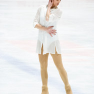 Karly Robertson during the short program at the Challenge Cup 2019.