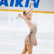 Charlotte Vandersarren during the short program at the Challenge Cup 2019.